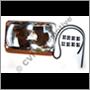 Headlamp reflector, 240 1981- LH/RH (NB! for LH traffic)  R