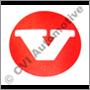 Emblem on hubcap, E/ES