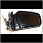 Door mirror 240 LHD manual 86-91 RH (manual, convex glass)