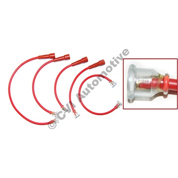 Ignition lead set, B16/B18 (Bosch plug caps) (OE style - can also fit B20)