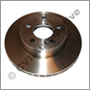Brake disc front, 164 1972-1975 (+140  with vented discs ATE)