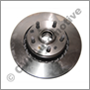"""Brake disc front 700 Girling/Bendix 82-87 (15""""/287 mm ventilated with hub)"""