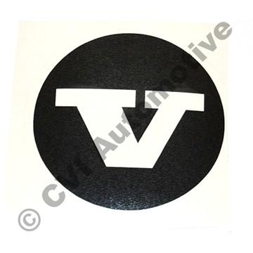 Sticker (black) for hub cap 670437 (KS)