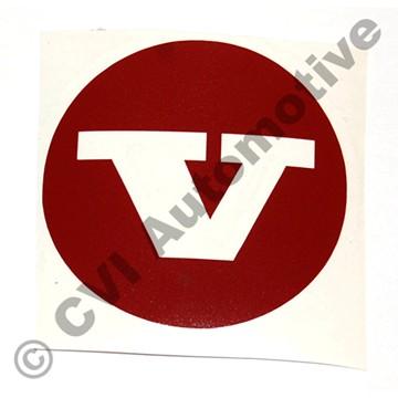 Sticker (red) for hub cap 670437 (KS)