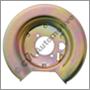 Brake backplate rear, E/ES/140 LH (+164 -1974)