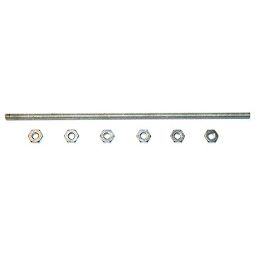 Pin stud set taillamp hsng 544 (1 long screw + 6 nuts)