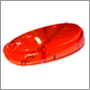 Tail lamp lens, Amazon -1962 (all-red) (NB! Does not fit model years '63-'70)