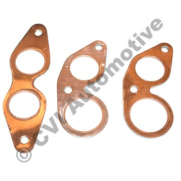 Manifold gasket set in copper for Volvo B16 engine