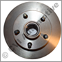Brake disc/rotor, 122S -'70/1800S -'69 (cast with hub )