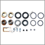 Overhaul kit, 1 front caliper S60R/V70R (incls. pistons/bleed screws - Brembo 04-07)