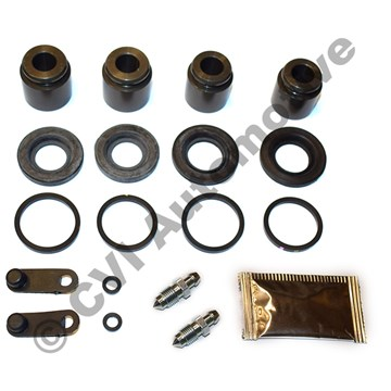 Overhaul kit, 1 rear caliper S60R/V70R (incls. pistons/bleed screws - Brembo 04-07)
