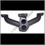 Grenrör avgas, B20E/F (140/1800) (18 mm fläns - för insprutningsmotorer)