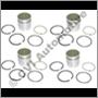 Kolvsats med ringar för Volvo B16 motor, Standard-storlek. Sats med 4 st kolvar och 4 st ringar