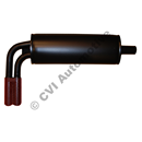"Rear silencer with tailpipe 2"", PV544"