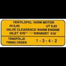 Decal, valve cover B4B/B16A