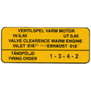 Dekal, ventilkåpa B4B/B16A