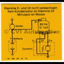 Decal, B18 charging regulator (yellow)