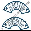 Dekaler, för luftfilter 672280/81 (1 par)
