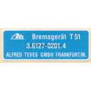 Decal, ATE brake servo T51