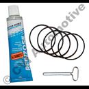 Ventilkåpspackningsats bensin 5-CYL 1992-   (5 o-ringar + flytande)