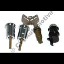 Lock set 200 75-77 door/boot/glove-box