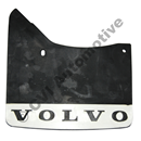 Mudflap rear, 140/164/200 '74-'85 LH (Volvo genuine with white logo)