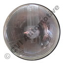 H4 h/lamp insert, RHD domed glass (NB! for LH traffic UK, Japan, Oz)