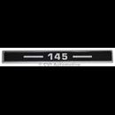 "Emblem ""145"" baklucka"