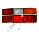 Taillamp 240 79-89 chrome RH (with fog light: not for USA)