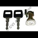 Door lock + key, 240 81-93 RH
