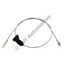 Handbrake cable rear RH 700 '88-, 940 '91--'95, 960 '91-'94  (rigid rear axle)