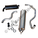 Exhaust kit rear 140/240 74-76 B20A