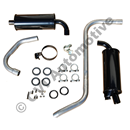 Exhaust 1/2 kit rear 140 67-73 (Volvo genuine with fittng kit)