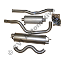 Exhaust 1/2 kit 240 turbo 81-85 (not USA) (swedish-made non-genuine)
