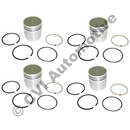 Piston with rings for Volvo B16 engine, +030 size. A kit with 4 pistons & rings