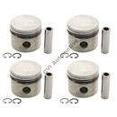 Piston with rings, B18 STD (NB! Kit with 4 pistons)