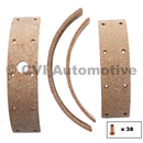 Brake lining set 444/445 (with rivets) (for1 axle, fits front & rear)