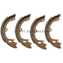 Handbrake shoe set, 1967-72 (142/144/145/164/1800E/ES)