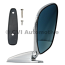 Door mirror, blue-tinted flat LH/RH (affixed via screws outside)