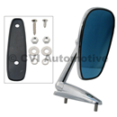 Door mirror, blue-tinted flat LH/RH (affixed via nuts fr inside)