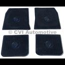 Accessory floor mat set Amazon (black rubber)