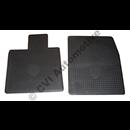 Rubber accessory floor mat set P1800 black -'69 LHD