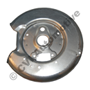 Brake backplate rear, 850/S70/V70 LH (2WD - 1992-2000)