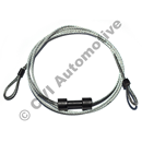 Cable w/o chain, door glass Amazon 4-dr (front door: re-use old chain)