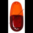 Baklampsglas, PV 544 (röd/gul)