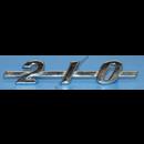"""Emblem """"210"""", på huv, -1964"""