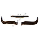 Front bumper P1800 -'64, front Stainless steel - 3 sections