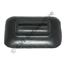 Bumper iron rubber, P1800 side rear