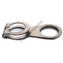 Exhaust clamp rear of front muffler 210