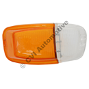 Blinkersglas fram, Amazon B18/B20 hö (klar/orange)